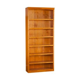 Atlantic Furniture Caramel Latte 86.75-in 7-Shelf Bookcase