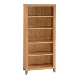 Bush Furniture Somerset Maple Cross 65.24-in 5-Shelf Bookcase