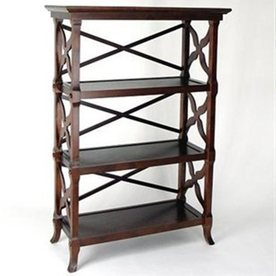 Wayborn Furniture Charter Brown 46.5-in 3-Shelf Bookcase
