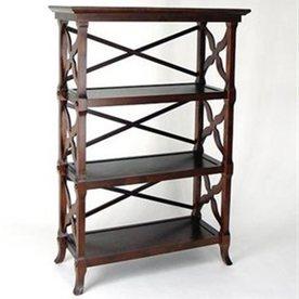 Wayborn Furniture Charter Brown 32-in W x 46.5-in H x 14-in D 3-Shelf Bookcase