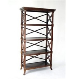 Wayborn Furniture Charter Brown 60-in 4-Shelf Bookcase