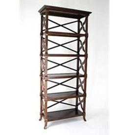 Wayborn Furniture Charter Brown 32-in W x 73.5-in H x 14-in D 5-Shelf Bookcase