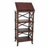 Wayborn Furniture Charter Brown 19-in W x 67.5-in H x 19-in D 5-Shelf Bookcase
