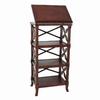 Wayborn Furniture Charter Brown 19-in W x 67.5-in H x 19-in D 5-Shelf Bookcase