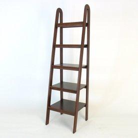 Wayborn Furniture Brown 19-in W x 67.5-in H x 19-in D 5-Shelf Bookcase