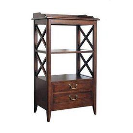 Wayborn Furniture Eiffel Brown 19-in W x 67.5-in H x 19-in D 5-Shelf Bookcase