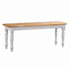 Boraam Industries Farmhouse White Natural 48-in Dining Bench