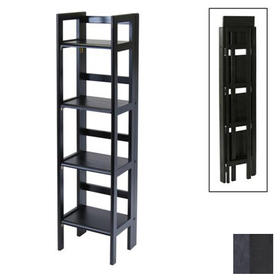 Winsome Wood Black 51.5-in 4-Shelf Bookcase
