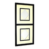 Wayborn Furniture Diamond 20-in x 42-in Off White/Black Rectangle Framed Wall Mirror