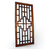 Wayborn Furniture Onfai 18-in x 39-in Brown Rectangle Framed Wall Mirror