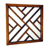 Wayborn Furniture Happy 24-in x 24-in Brown Square Framed Wall Mirror