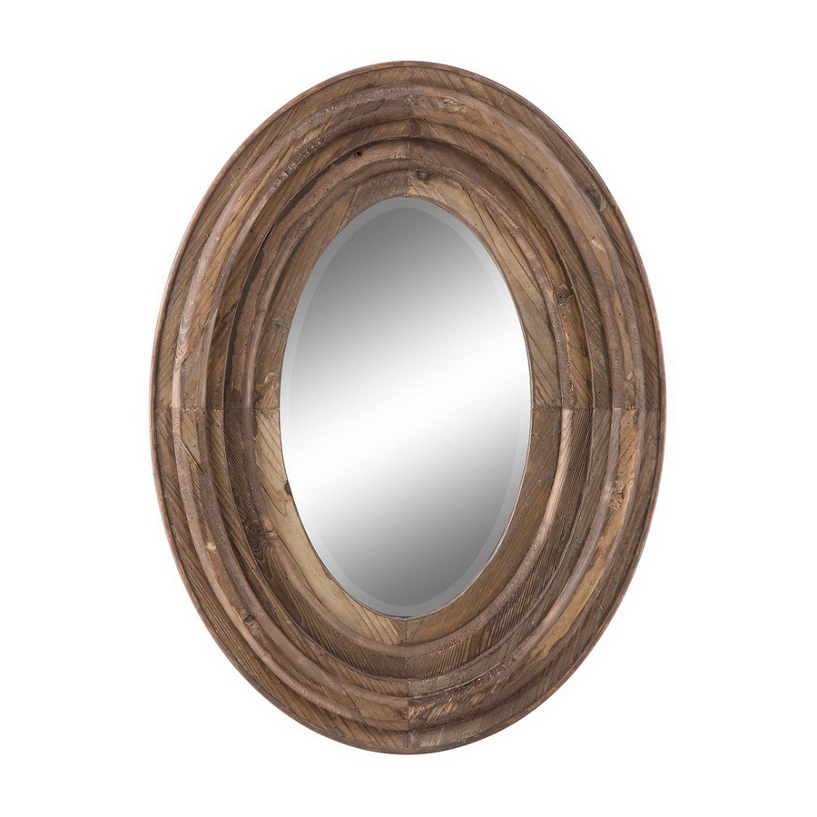Shop cooper classics 24 in x 32 in natural rustic wood for Rustic mirror