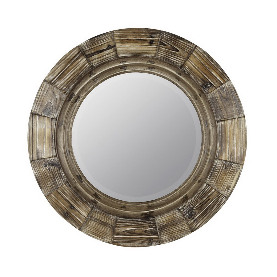 Shop cooper classics x natural wood Round framed mirror