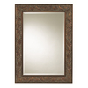 Cooper Classics Joliet 32.75-in x 44.75-in Tarnished Copper Beveled Rectangular Framed Wall Mirror