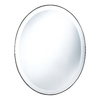 Cooper Classics Seymour 22-in x 28-in Mocha Beveled Oval Frameless Wall Mirror