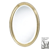 Cooper Classics Blake 21.5-in x 31.5-in Antique Silver Beveled Oval Framed Wall Mirror