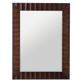 shop cooper classics savona 30 in x 42 in washed brown beveled rectangle framed wall mirror at. Black Bedroom Furniture Sets. Home Design Ideas