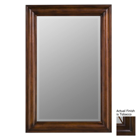 Cooper Classics 24-in x 36-in Tobacco Rectangle Framed Wall Mirror 5792