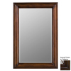 Cooper Classics Julia 24-in x 36-in Tobacco Beveled Rectangular Framed Wall Mirror