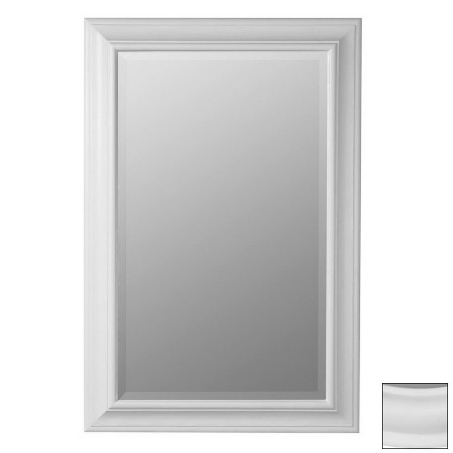 Shop cooper classics chesapeake white rectangular framed for White framed mirror