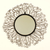Ashton Sutton 22-in x 22-in Wrought Iron Round Framed Mirror