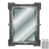 Hickory Manor House Fruit Motif 31-in x 42-in Whitewash Beveled Rectangle Framed Wall Mirror