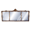 Hickory Manor House Georgian Mantel 54-in x 24-in Antique Gold Beveled Rectangle Framed Wall Mirror