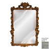 Hickory Manor House Flourishing 34-in x 40-in Antique White Beveled Rectangle Framed Wall Mirror