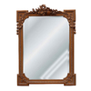 Hickory Manor House Musical Motif 29-in x 40-in Bronze Beveled Rectangle Framed Wall Mirror