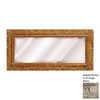 Hickory Manor House Carved Floral 40.5-in x 20-in Vintage Blanc Beveled Rectangle Framed Wall Mirror