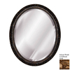 Hickory Manor House Baroque 18-in x 22-in Antique Gold Beveled Oval Framed Wall Mirror