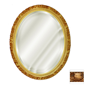 Shop hickory manor house 18 in x 22 in baroque oval framed for Baroque oval wall mirror