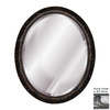Hickory Manor House Baroque 18-in x 22-in Gilt Silver Beveled Oval Framed Wall Mirror