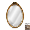 Hickory Manor House Bow 18-in x 27-in Ornate Beveled Oval Framed Wall Mirror
