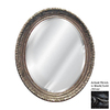 Hickory Manor House Ornate 36-in x 46-in Black/Gold/Silver Beveled Oval Framed Wall Mirror