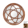 Hickory Manor House Star Circle 24.25-in x 24.25-in Antique Gold Round Framed Wall Mirror
