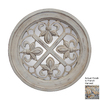 Hickory Manor House Fleur-De-Lis 21-in x 21-in French Harvest Polished Round Framed French Wall Mirror