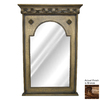 Hickory Manor House Crested 23.5-in x 43.5-in Bronze Arch Framed Wall Mirror