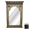 Hickory Manor House Crested 23.5-in x 43.5-in Napoleon Arch Framed Wall Mirror