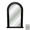 Hickory Manor House 24-in x 38.5-in Whitewash Polished Arch Framed Wall Mirror