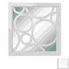 UMA Enterprises 24-in x 24-in White Square Framed Mirror
