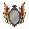 Design Toscano Twin Fairies 15-in x 17-in Polished Oval Framed Wall Mirror