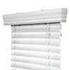 IPG White Vinyl 2-in Slat Room Darkening Window Horizontal Blinds (Common Blind Width: 58.5-in; Actual Blind Size: 58.25-in x 60-in)