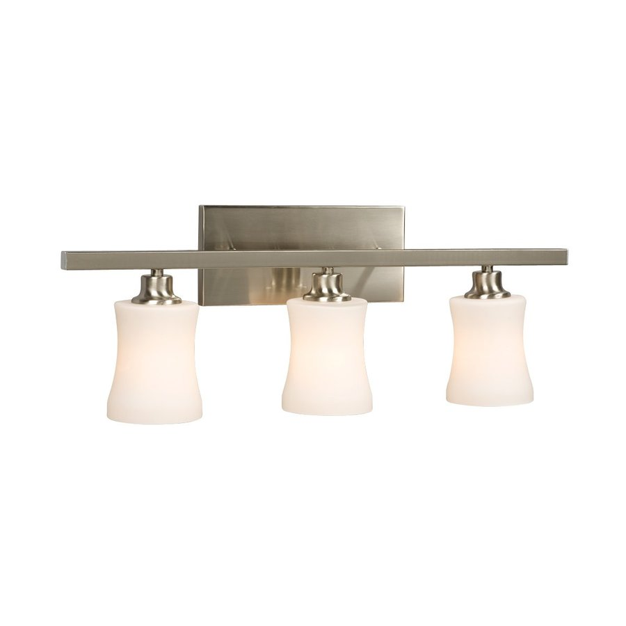 Delta Bathroom Vanity Lights : Shop Galaxy 3-Light Delta Brushed Nickel Standard Bathroom Vanity Light at Lowes.com