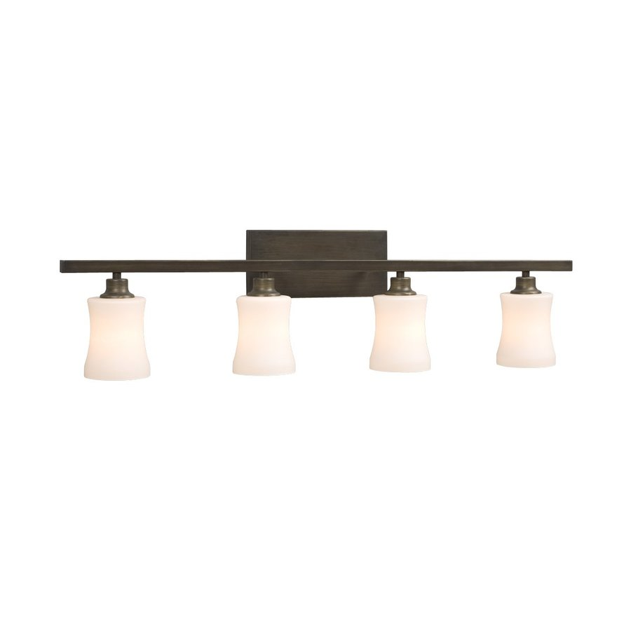 Shop Galaxy 4-Light Delta Oil-Rubbed Bronze Standard Bathroom Vanity Light at Lowes.com