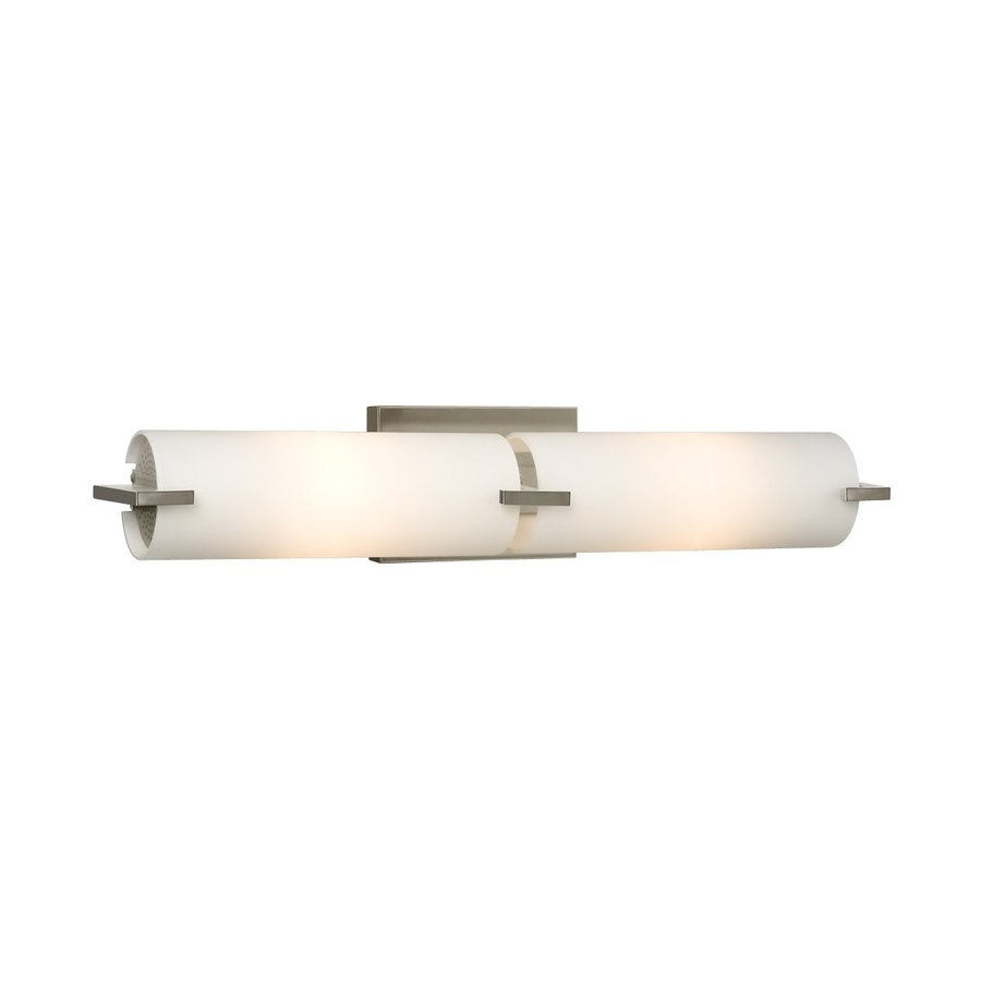 shop galaxy kona brushed nickel bathroom vanity light at. Black Bedroom Furniture Sets. Home Design Ideas