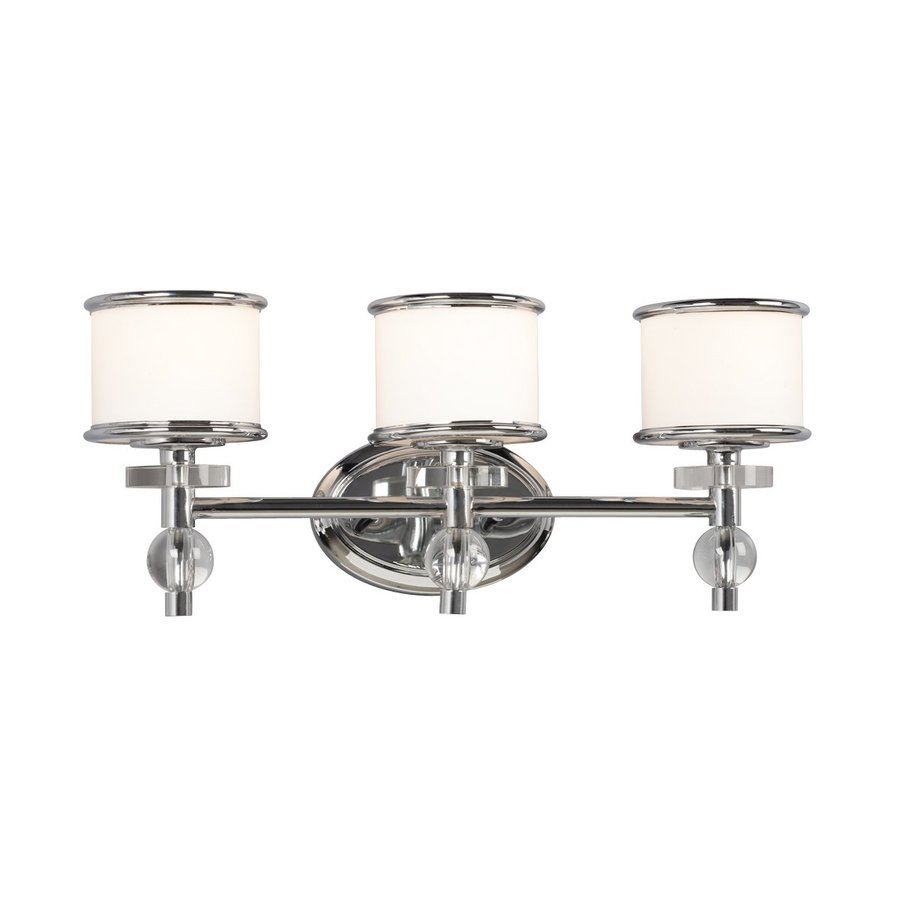 Light Hilton Chrome Art Glass Standard Bathroom Vanity Light at Lowes