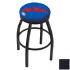 Holland University Of Mississippi Black Wrinkle 30-in Swivel Bar Stool