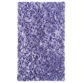 The Rug Market Kids Rectangular Purple Solid Accent Rug (Common: 2-ft x 3-ft; Actual: 22-in x 34-in)