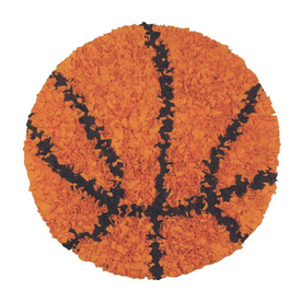 The Rug Market Kids 36-in x 36-in Round Multicolor Sports Accent Rug